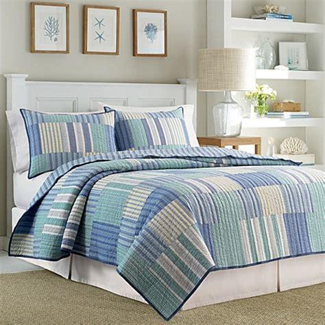 bed bath beyond quilts nautica 174 belle isle reversible quilt bed bath beyond