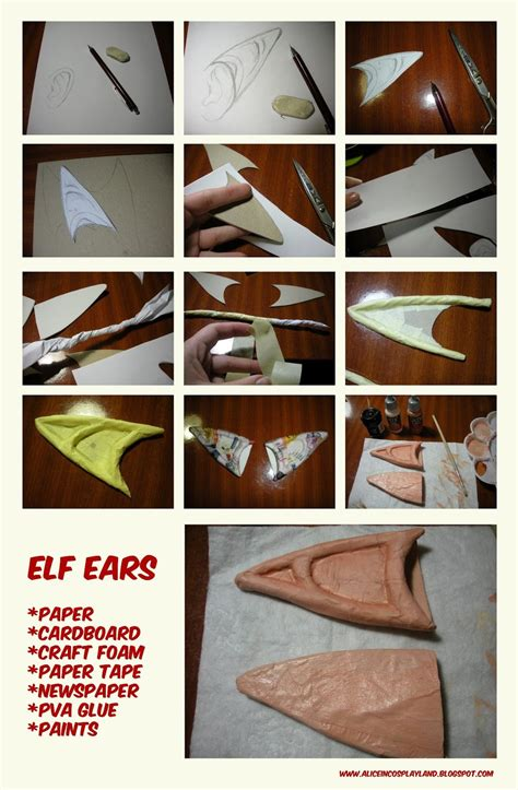 tutorial latex elf ears tutorial elf ears by aliceincosplayland on deviantart