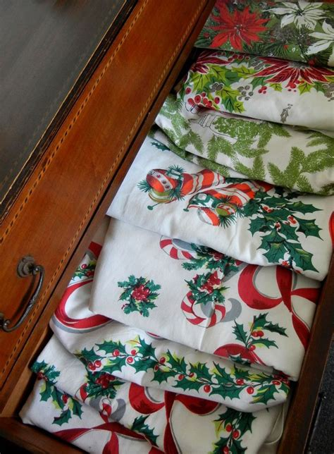 vintage christmas tablecloths vintage tablecloths