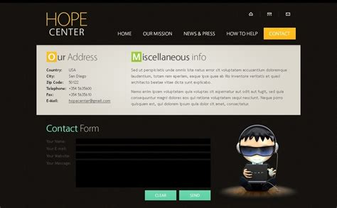 free website template with typography and jquery slider