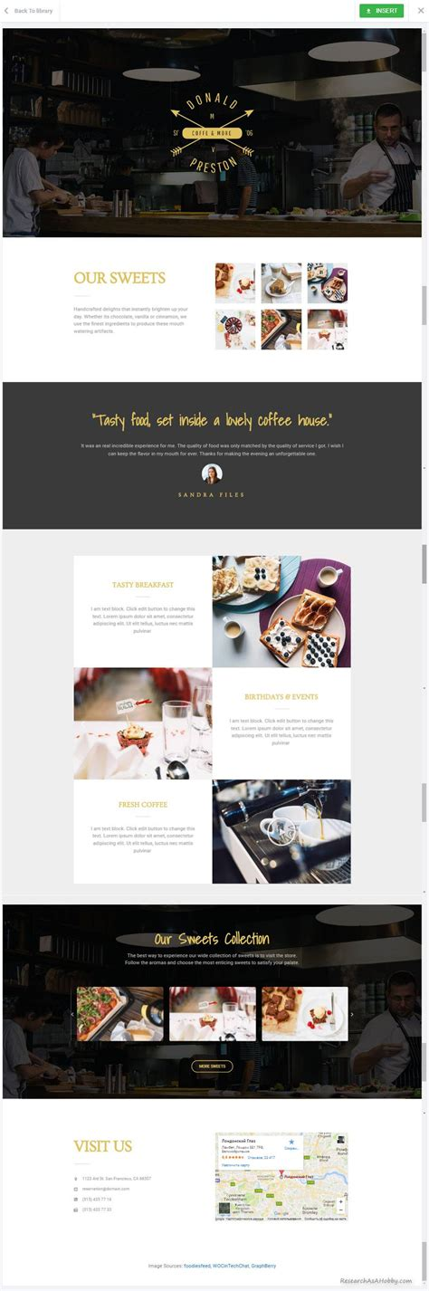 personal landing page template for elementor free elementor free template demo research as a hobby