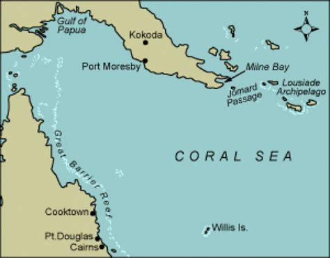 coral sea map the battle of the coral sea the anzac portal