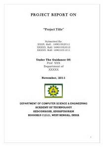 Project Outline Format Sle by Project Report Format
