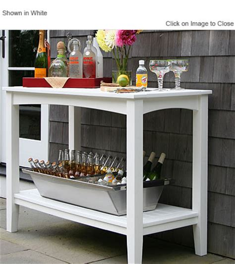 Outdoor Buffet Table by Envirowood Outdoor Poly Furniture Seaside Casual Sea095