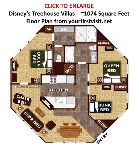 disney treehouse villas floor plan rpisite com the living dining kitchen space at the treehouse villas at