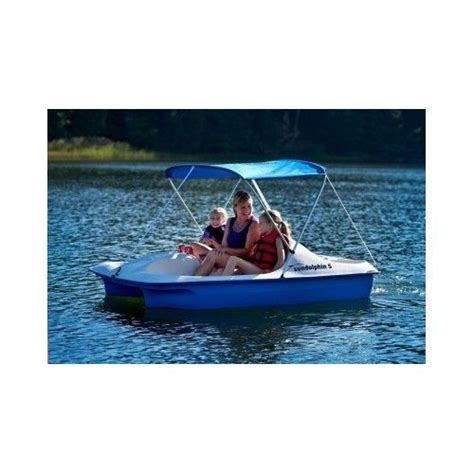 five person boat pedal boat five 5 person peddle paddle sun canopy fishing