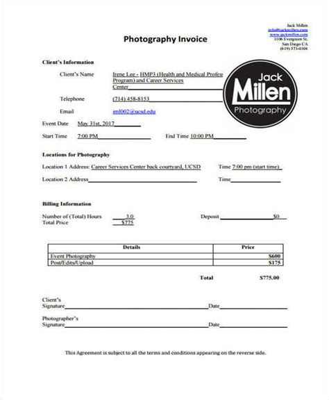 deposit invoice template 7 deposit invoice templates exles in pdf