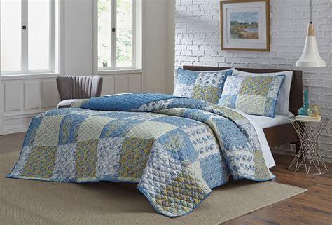 Kmart Quilts Sets by Colormate Blue Patch Quilt Set Home Bed Bath