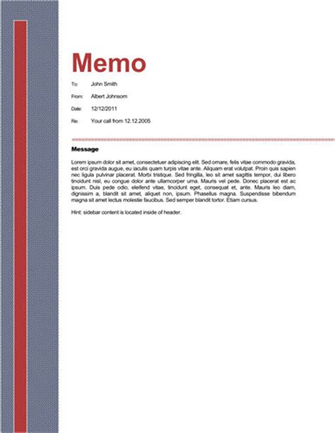 Memo Template Microsoft Word Business Memorandum Template Helloalive