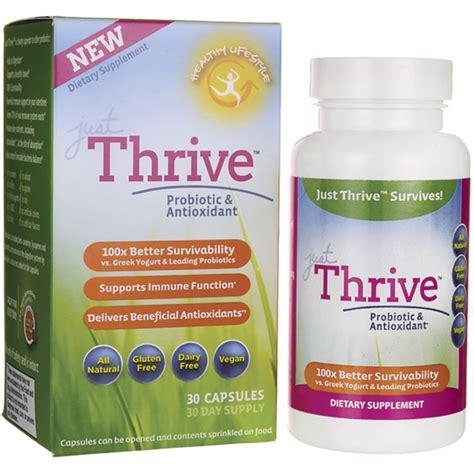 thrive m supplement just thrive just thrive probiotic antioxidant 3 billion