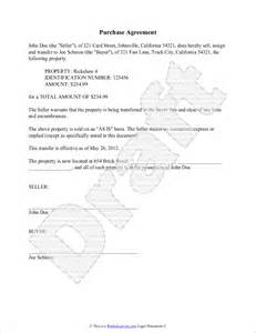 Agreement Of Purchase And Sale Template 4 simple purchase agreement templatereport template