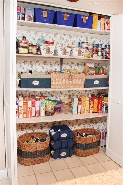 Pantry Makeover pantry makeover how to nest for less