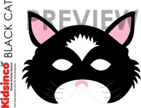 printable mask of cat animal masks templates k i d s i n co com free