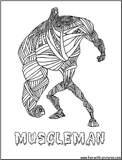 printable regular show mucle man coloring pages regular show muscle man free coloring pages