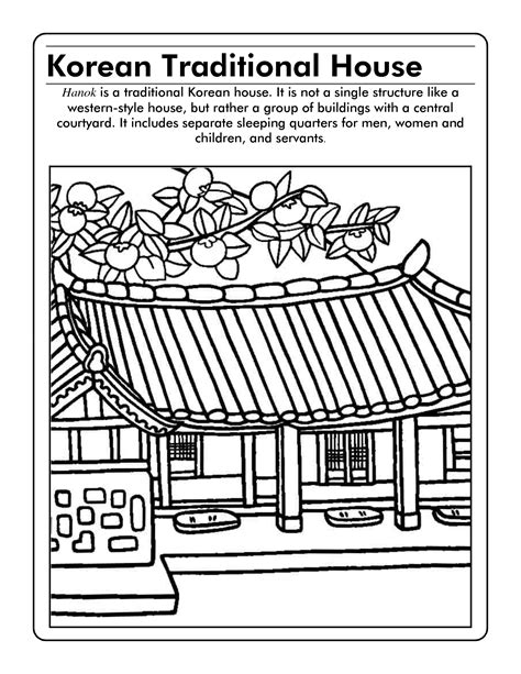 korea coloring page scope  work template korean