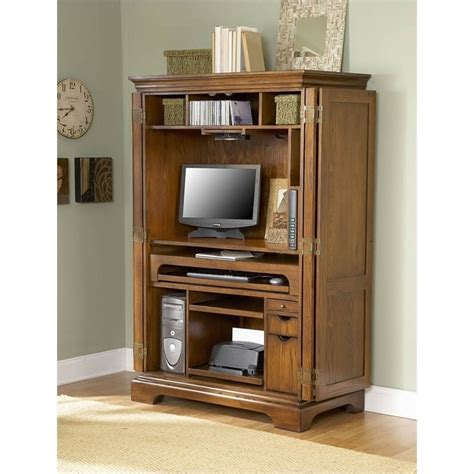 Riverside Computer Armoire Riverside Furniture Seville Square Computer Armoire In Warm Oak 8985