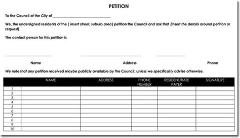 signature petition template petition templates create your own petition with 20
