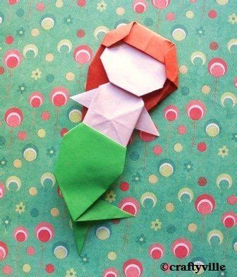 How To Make An Origami Mermaid - origami mermaid diy s