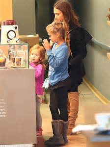 Jessica alba spends time with her daughters honor and haven in santa