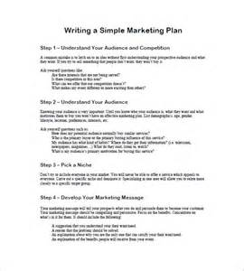 writing plan template one page marketing plan template 10 free sle