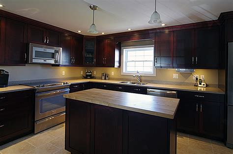 beautiful maple kitchen with mahogany stain so much
