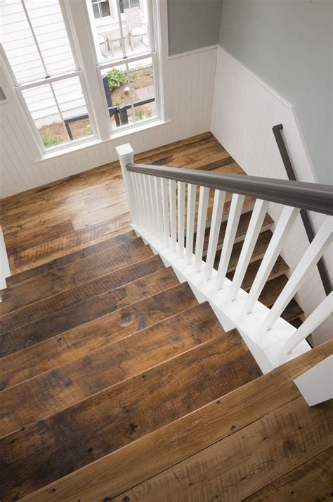 Hardwood Flooring On Stairs Reclaimed Wood Floors Stairs Our House Our Home