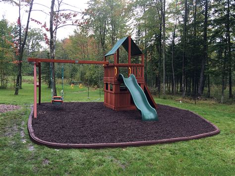 madison swing set artificial turf fake grass safe rubber mulch playn