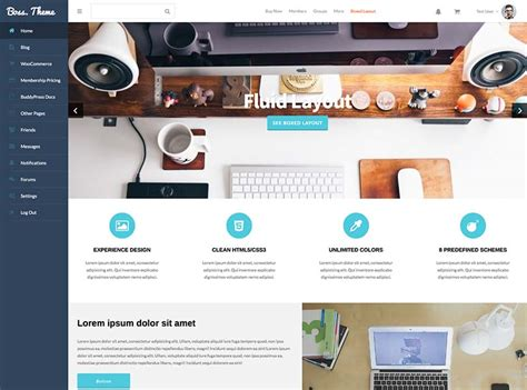 15 Best Wordpress Social Network Themes For 2018 Siteturner Social Network Website Design Template