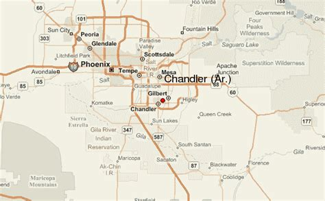 chandler arizona united states map chandler location guide
