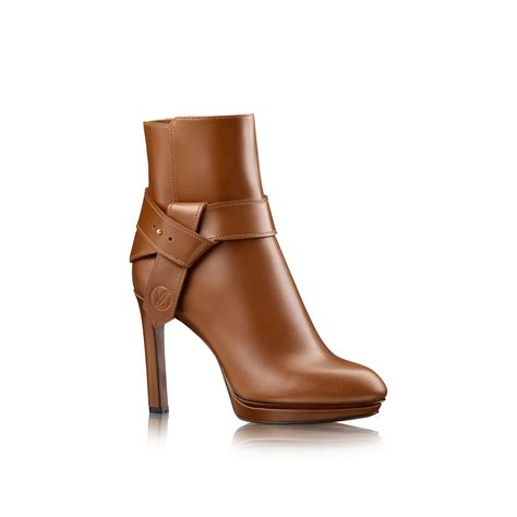 louis vuitton belted ankle boot in brown cognac lyst