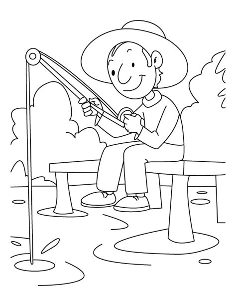 coloring page of boy fishing a boy is fishing coloring pages download free a boy is