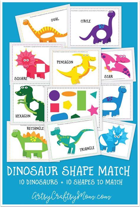 printable dinosaur games printable dinosaur shape match game montessori shapes
