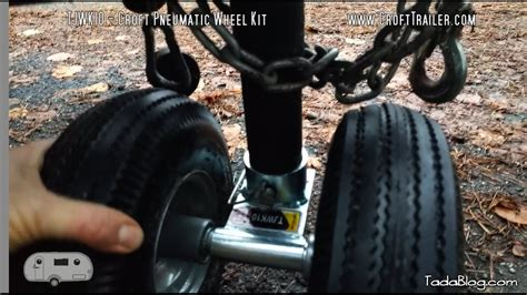 boat trailer jack with pneumatic tire switch to dual pneumatic wheels for your trailer jack