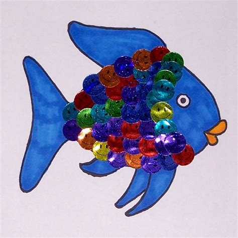 rainbow fish pattern for kindergarten 92 best images about colour theme on pinterest fine