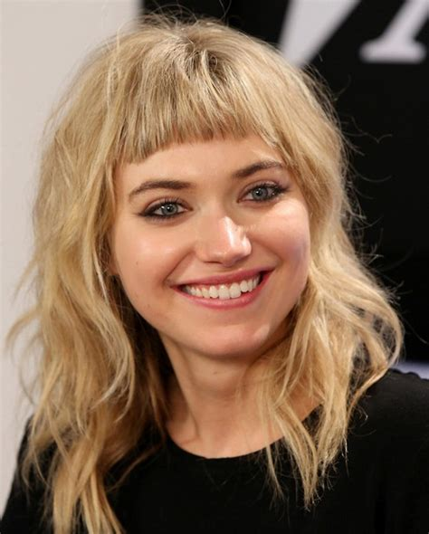 hairstyles with messy bangs 2014 imogen poots medium hairstyles messy hair with bangs