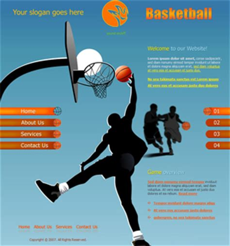 template sports free website templates free web templates free web