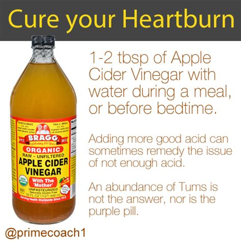 Benefits Of Apple Detox Diet by Apple Cider Vinegar For Heartburn Primecoach Health
