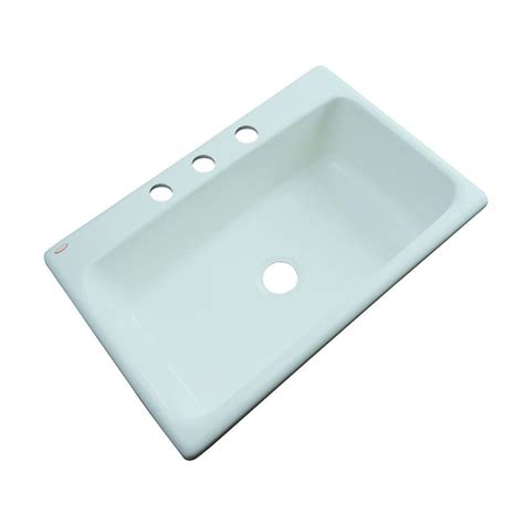thermocast kitchen sinks thermocast manhattan drop in acrylic 33 in 3 single