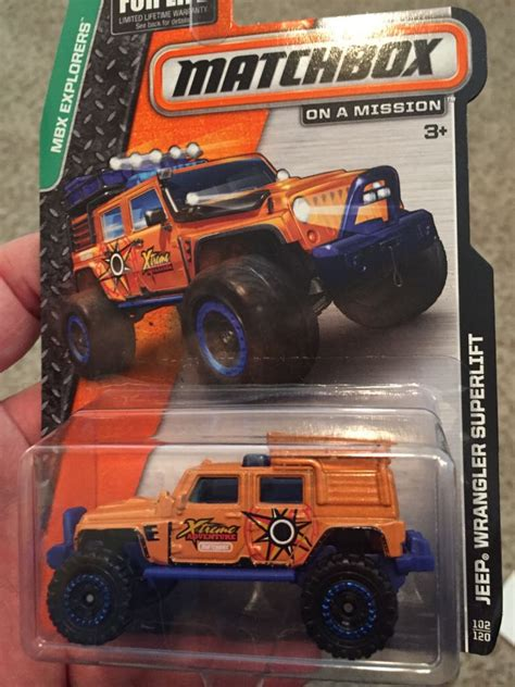matchbox jeep wrangler superlift jeep wrangler superlift car die cast and wheels