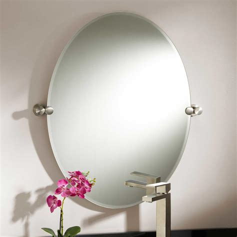 oval bathroom mirror 24 quot houston oval tilting mirror bathroom mirrors bathroom