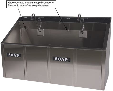 Scrub Station surgical scrub sinks continental metal products