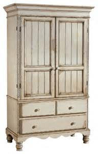 hillsdale wilshire armoire in antique white furniture