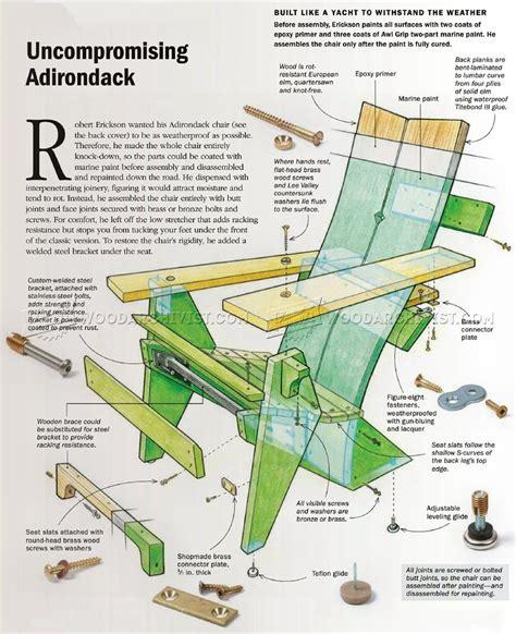 Adirondack Ottoman Plans Adirondack Chair Plans Woodarchivist