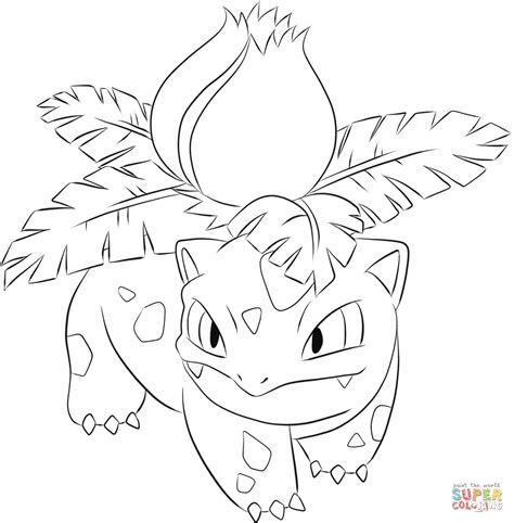 pokemon coloring pages ivysaur ivysaur coloring page free printable coloring pages