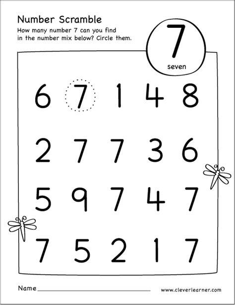 number 7 worksheets number 7 worksheet photos dropwin