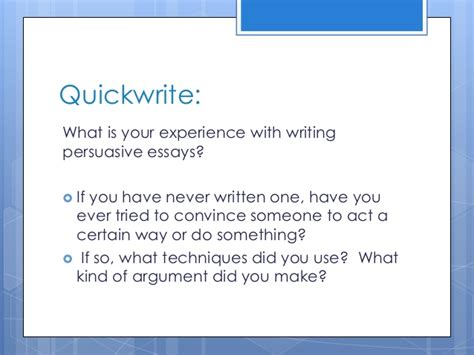 Writing An Argumentative Essay Powerpoint by Persuasive Writing Lesson Powerpoint