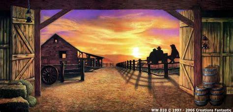 Cowboy Bedroom Ideas backdrop ww010 sunset barn