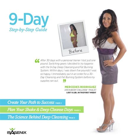 Designs For Health 14 Day Detox Guide isagenix 9 day cleansing and burning system