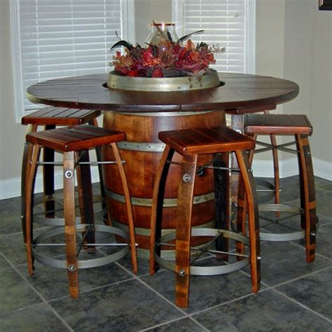 Wine Dining Table Barrel Bistro Table