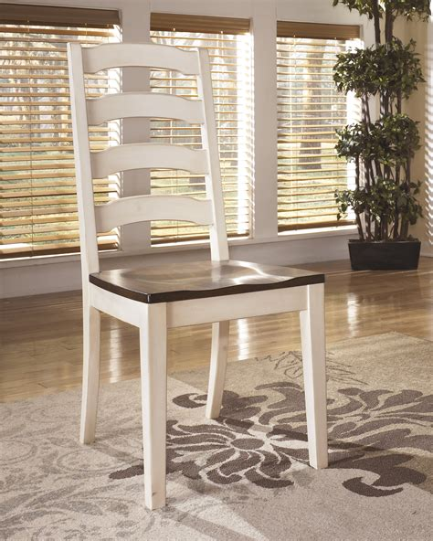 Cottage Style Dining Room Chairs by Whitesburg Cottage Style Two Tone Ladderback Dining Room